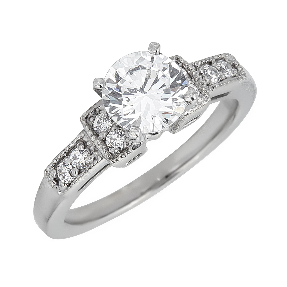 Engagement Ring Design 225-E - Barry's Estate Jewelry